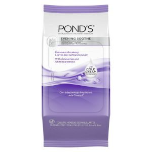 POND'S EVENING SOOTHE MAKEUP REMOVER WIPES EVENING SOOTHE, 28 CT